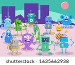 cartoon illustrations of aliens ...
