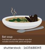illustration of a palauan soup... | Shutterstock .eps vector #1635688345