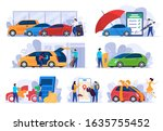 buying new car  insurance and... | Shutterstock .eps vector #1635755452