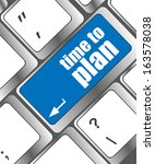 time to plan concept with key... | Shutterstock . vector #163578038