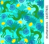 vector background of kokopelli...   Shutterstock .eps vector #16357831