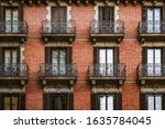 Red Brick Facade With Wrought...