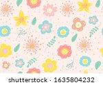 seamless pattern of  flowers... | Shutterstock .eps vector #1635804232