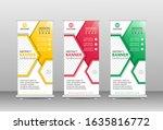 roll up banner vertical design... | Shutterstock .eps vector #1635816772