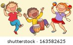 illustration of kids playing... | Shutterstock .eps vector #163582625
