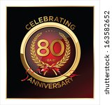 80,80th,anniversary,badge,banner,birthday,card,celebrate,celebrating,celebration,ceremony,congratulations,decoration,graduation,happiness