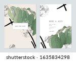 wedding invitation card...   Shutterstock .eps vector #1635834298