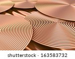 Abstract Spiral Copper Pipes....