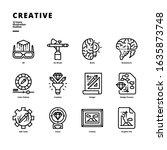 creative icon set for digital... | Shutterstock .eps vector #1635873748
