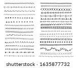 hand drawn doodle lines set.... | Shutterstock .eps vector #1635877732