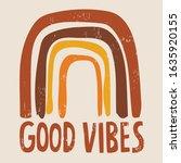 good vibes 70s vintage tshirt... | Shutterstock .eps vector #1635920155