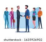 business partnership handshake. ... | Shutterstock .eps vector #1635926902