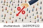 negative interest rates in...   Shutterstock .eps vector #1635929122