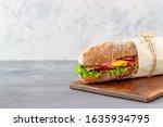 Sandwich Of Dark Bread With...