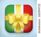 gift icon flag of italy with...