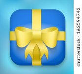 gift icon with bow and strip....