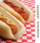 Two Hotdog With Mustard And...