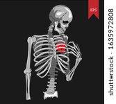vector illustration of a skull...   Shutterstock .eps vector #1635972808