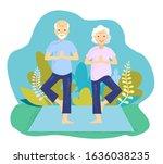 a vector illustration of senior ...   Shutterstock .eps vector #1636038235