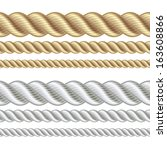 set of different thickness... | Shutterstock .eps vector #163608866