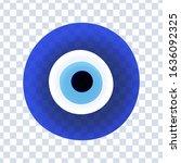 evil eye protection sign.... | Shutterstock .eps vector #1636092325