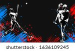 baseball player. baseball cap....   Shutterstock .eps vector #1636109245