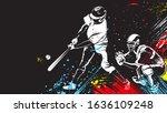 baseball player. baseball cap....   Shutterstock .eps vector #1636109248