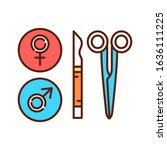 sterilization color line icon....