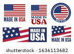 made in the usa logo or label.... | Shutterstock .eps vector #1636113682