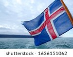 Icelandic Flag Waving In The...