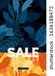dark vector summer design with... | Shutterstock .eps vector #1636188472