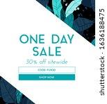 dark vector summer design with... | Shutterstock .eps vector #1636188475