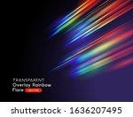 an optical lens rainbow flare... | Shutterstock .eps vector #1636207495