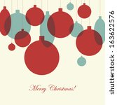retro christmas card with... | Shutterstock .eps vector #163622576