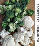 Fresh White Cauliflower And...