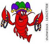 Mardi Gras Crawfish   A Cartoon ...