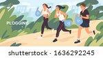 active cartoon people picking...   Shutterstock .eps vector #1636292245