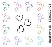 google heart multi color style...
