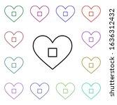 heart stop button multi color...