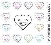 emoji happy multi color style...