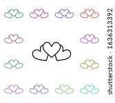 triple heart chain multi color...