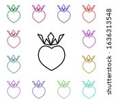 king heart with crown multi...