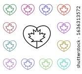 heart flag of canada multi...