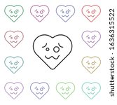 crazy emoji multi color style...