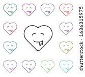 drooling emoji multi color...