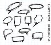 set of speech bubble hand drawn | Shutterstock .eps vector #1636322545