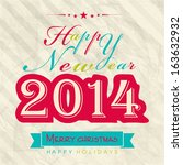 happy new year 2014 celebration ...   Shutterstock .eps vector #163632932