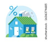 private house discount vector... | Shutterstock .eps vector #1636374685