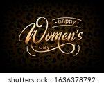 vector golden card happy women... | Shutterstock .eps vector #1636378792