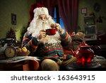 Portrait Of Santa Claus Sitting ...